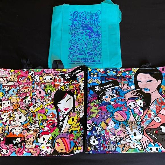Tokidoki Reusable Bags Bundle of 3